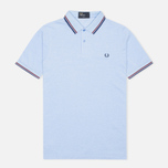 Мужское поло Fred Perry M3600 Twin Tipped Light Smoke Oxford фото- 0