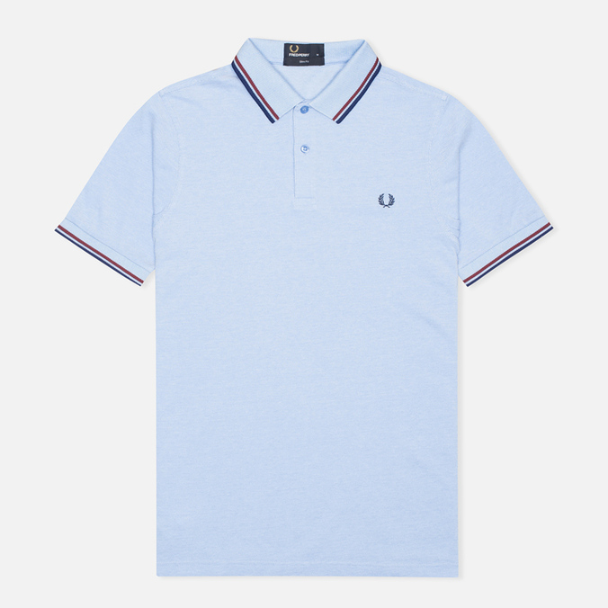 Мужское поло Fred Perry M3600 Twin Tipped Light Smoke Oxford