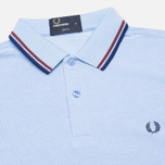 Мужское поло Fred Perry M3600 Twin Tipped Light Smoke Oxford фото- 1