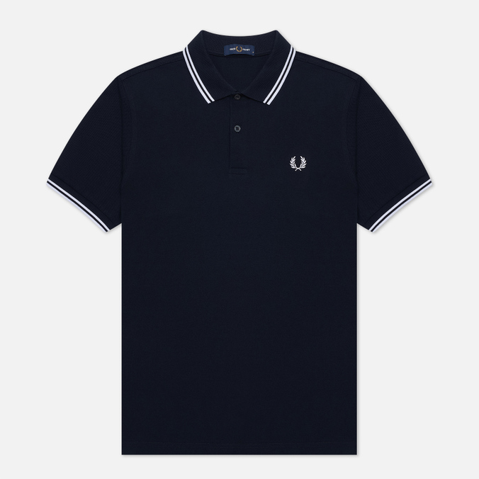 Fred Perry M3600 Twin Tipped Men's Polo Navy/White