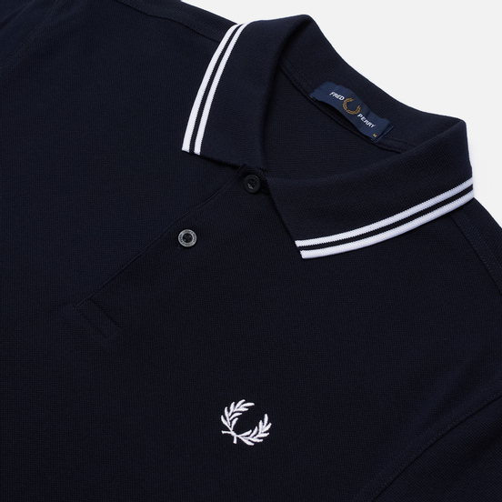 Мужское поло Fred Perry M3600 Twin Tipped Navy/White