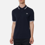 Мужское поло Fred Perry M3600 Twin Tipped Navy/White фото- 2
