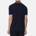 Мужское поло Fred Perry M3600 Twin Tipped Navy/White фото- 3