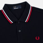 Fred Perry M3600 Twin Tipped Men's Polo Navy/White/Red photo- 1