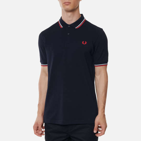 Мужское поло Fred Perry M3600 Twin Tipped Navy/White/Red