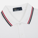 Мужское поло Fred Perry M3600 Twin Tipped White/Bright Red/Navy фото- 1