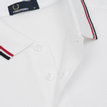 Мужское поло Fred Perry M3600 Twin Tipped White/Bright Red/Navy фото- 3