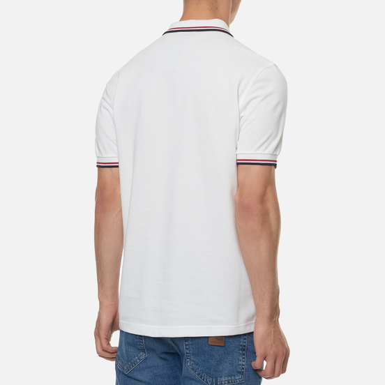 Мужское поло Fred Perry M3600 Twin Tipped White/Bright Red/Navy