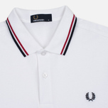 Мужское поло Fred Perry M3600 Twin Tipped White/Red/Navy фото- 1