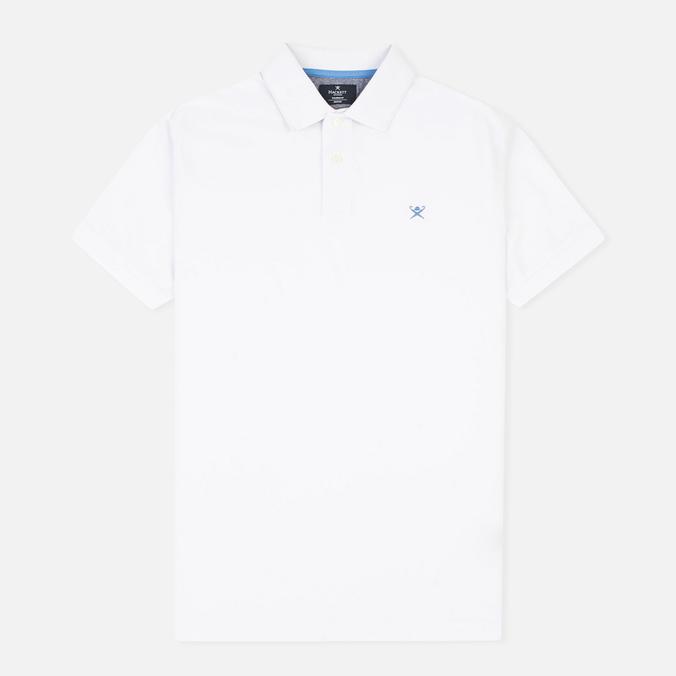 Мужское поло Hackett Tailored Logo White