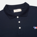 Maison Kitsune Tricolor Patch Men's Polo Navy photo- 1