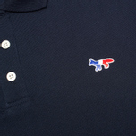 Maison Kitsune Tricolor Patch Men's Polo Navy photo- 2