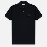 Мужское поло Lacoste L 12.12. Black фото- 0