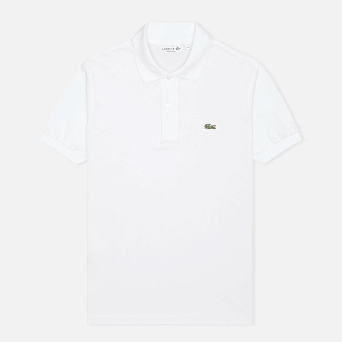 Мужское поло Lacoste L 12.12. White