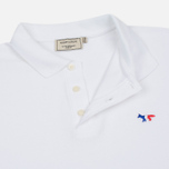 Мужское поло Maison Kitsune Tricolor Fox Patch White фото- 2