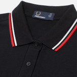 Женское поло Fred Perry Twin Tipped Black/Ecru фото- 1