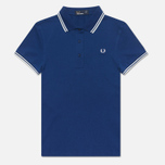 Женское поло Fred Perry Twin Tipped Medieval Blue фото- 0