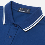 Женское поло Fred Perry Twin Tipped Medieval Blue фото- 1