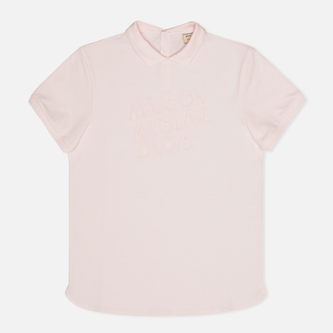 Maison Kitsune Embroidered Women's Polo Pink