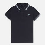 Fred Perry G12 Twin Tipped Women's Polo Navy/White photo- 0