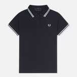 Женское поло Fred Perry G12 Twin Tipped Navy/White фото- 0