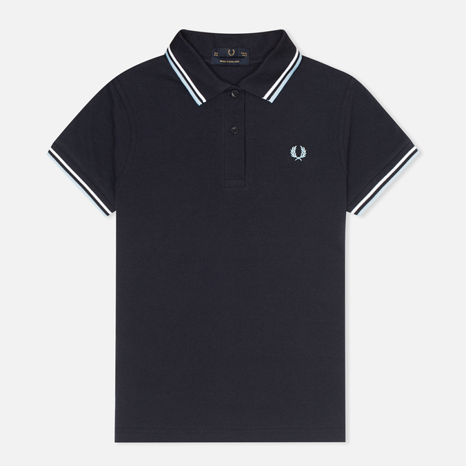 Женское поло Fred Perry G12 Twin Tipped Navy/White