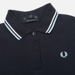 Женское поло Fred Perry G12 Twin Tipped Navy/White фото- 1