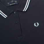 Женское поло Fred Perry G12 Twin Tipped Navy/White фото- 2