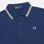 Женское поло Fred Perry G9762 Twin Tipped French Navy фото- 1