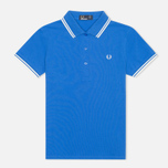 Женское поло Fred Perry G9762 Twin Tipped Refresher Blue фото- 0