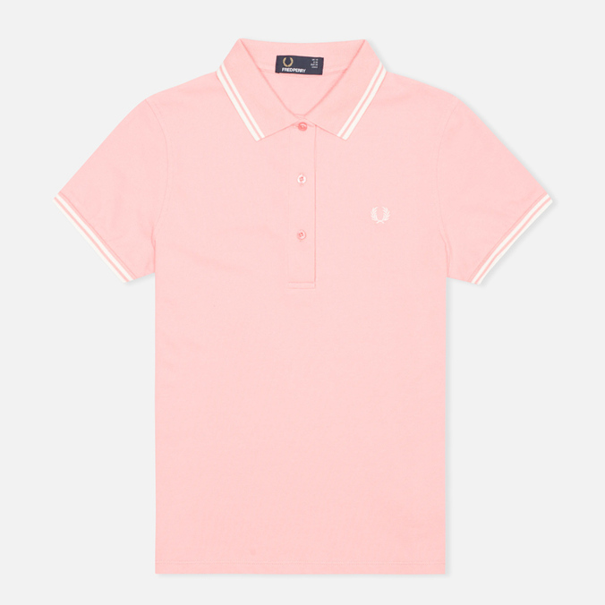 Женское поло Fred Perry G9762 Twin Tipped Sherbet