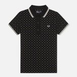 Женское поло Fred Perry Polka Dot Pique Black фото- 0