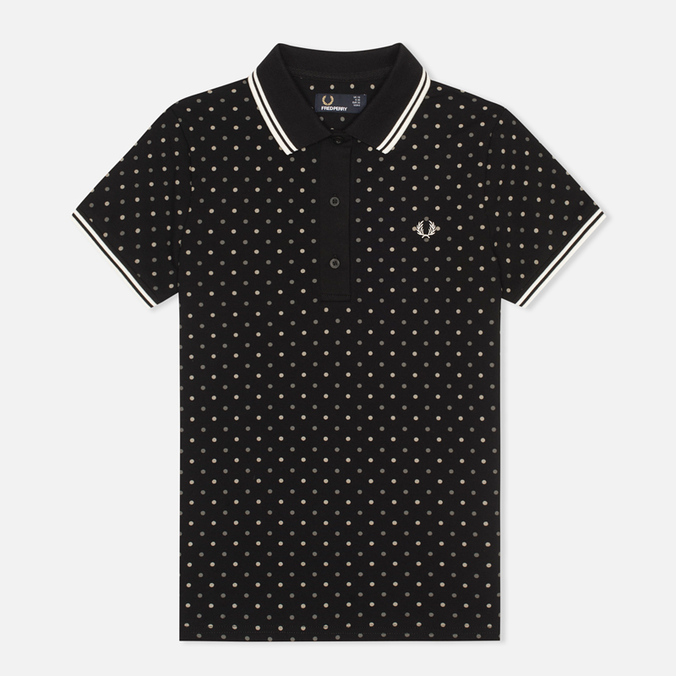 Женское поло Fred Perry Polka Dot Pique Black
