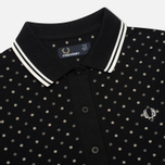 Женское поло Fred Perry Polka Dot Pique Black фото- 1