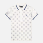Женское поло Fred Perry Twin Tipped Polka Dot Pique Snow White фото- 0