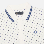 Женское поло Fred Perry Twin Tipped Polka Dot Pique Snow White фото- 2