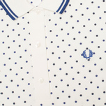 Женское поло Fred Perry Twin Tipped Polka Dot Pique Snow White фото- 1