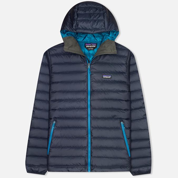 Мужской пуховик Patagonia Down Sweater Hoody Navy Blue