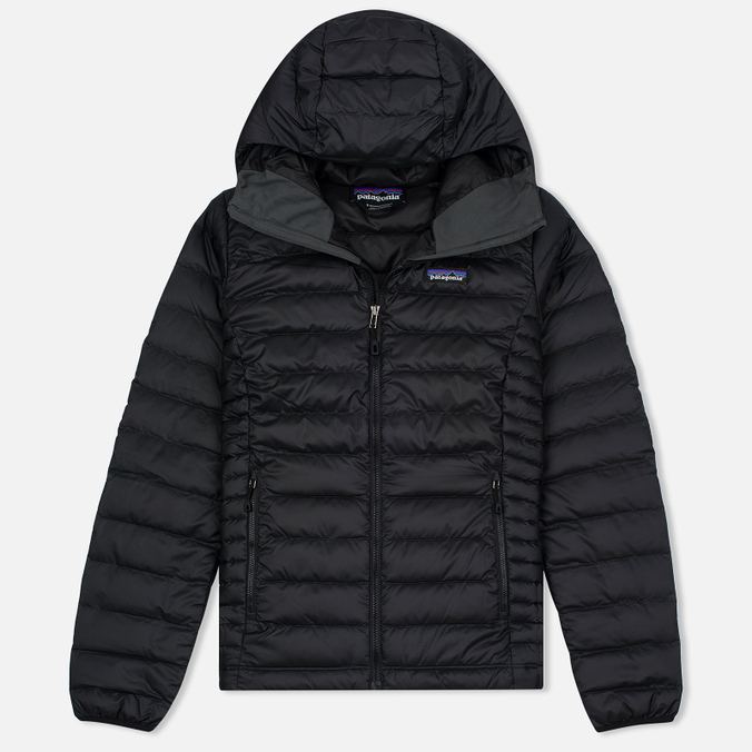 Женский пуховик Patagonia Down Sweater Hoody Black