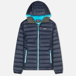 Patagonia Down Sweater Hoody Women's Padded Jacket Navy Blue photo- 0