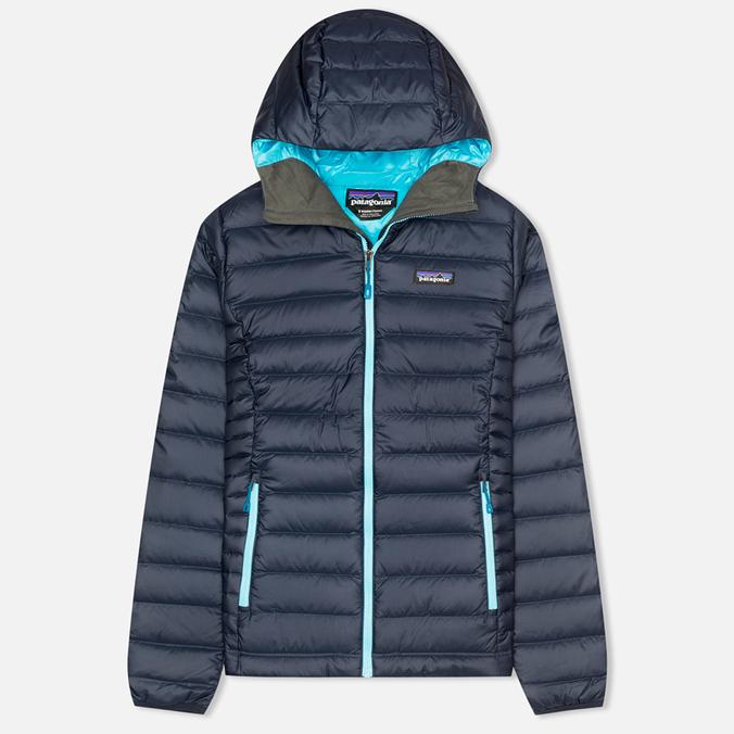 Женский пуховик Patagonia Down Sweater Hoody Navy Blue