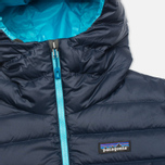 Patagonia Down Sweater Hoody Women's Padded Jacket Navy Blue photo- 3