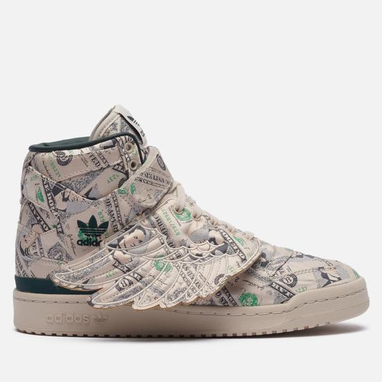 Кроссовки adidas Originals x Jeremy Scott Forum Hi Wings 1.0 Money Clear Brown/Green Night/Clear Brown