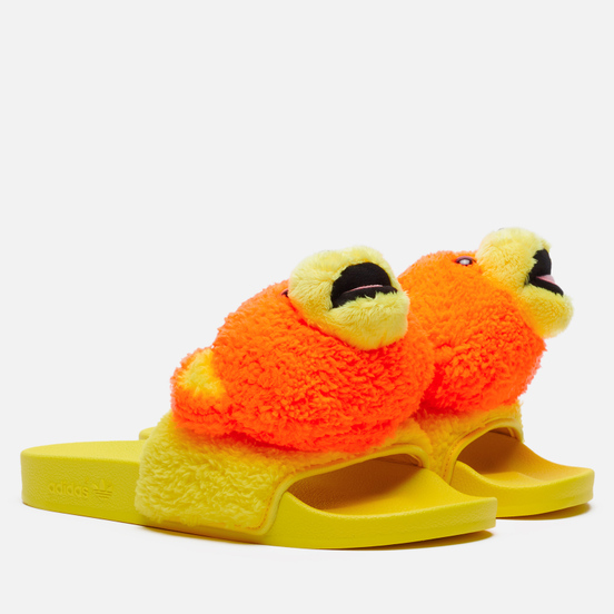 Сланцы adidas Originals x Jeremy Scott Adilette JS Bear Solar Orange/Yellow/Core Black