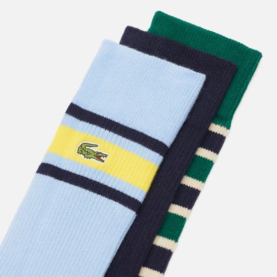Комплект носков Lacoste 3-Pack Heritage Ribbed Cotton Navy Blue/Swing/Creek