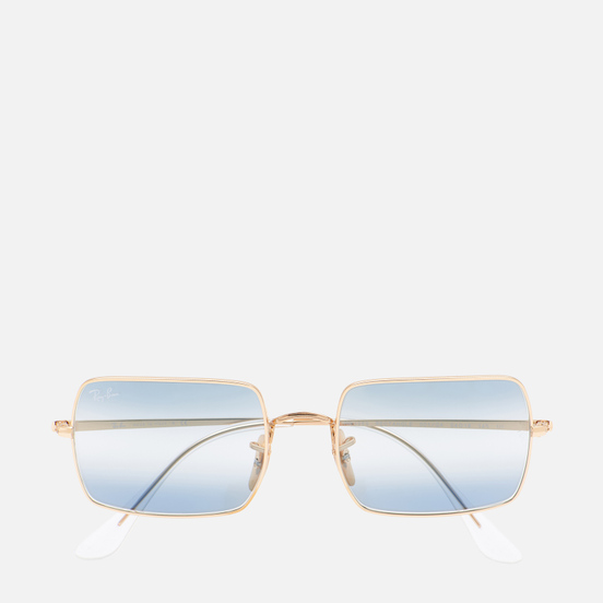 Солнцезащитные очки Ray-Ban Rectangle 1969 Bi-Gradient Polished Gold/Clear Blue