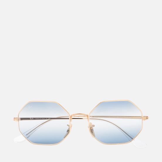 Солнцезащитные очки Ray-Ban Octagon 1972 Bi-Gradient Polished Gold/Clear Blue