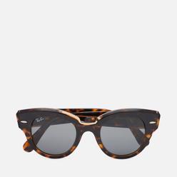 Солнцезащитные очки Ray-Ban Roundabout Polished Brown Tortoise/Dark Grey