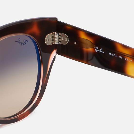 Солнцезащитные очки Ray-Ban Roundabout Polished Pink Tortiose/Brown/Blue