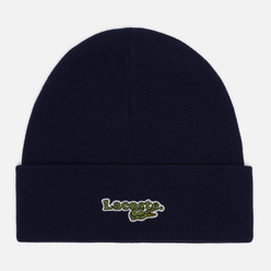 Шапка Lacoste Ribbed Cotton Beanie Navy Blue